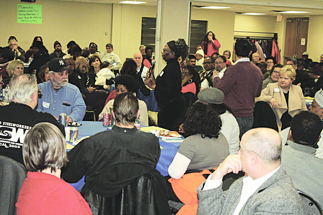 Attendees of the February 11 AFLCIO Town Hall Dinner