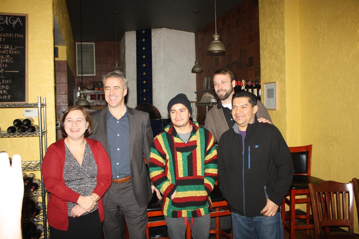 Michele McKenzie, Mike Wilde, Yobany Castro, Terin Mayer (back row0) and Edaurdo Ramos.