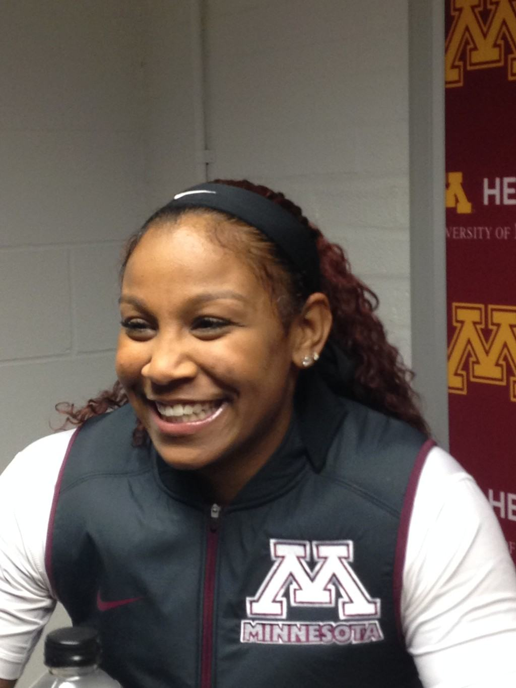 Allina Starr led tthe Gophers with 10 rebounds