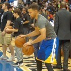 Stephen Curry puts on a show
