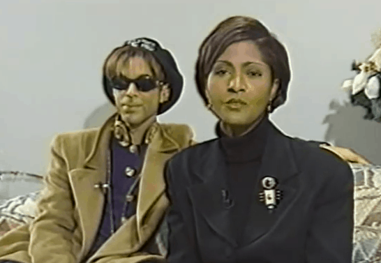A screencap of a teaser of Robyne Robinson's interview with Prince