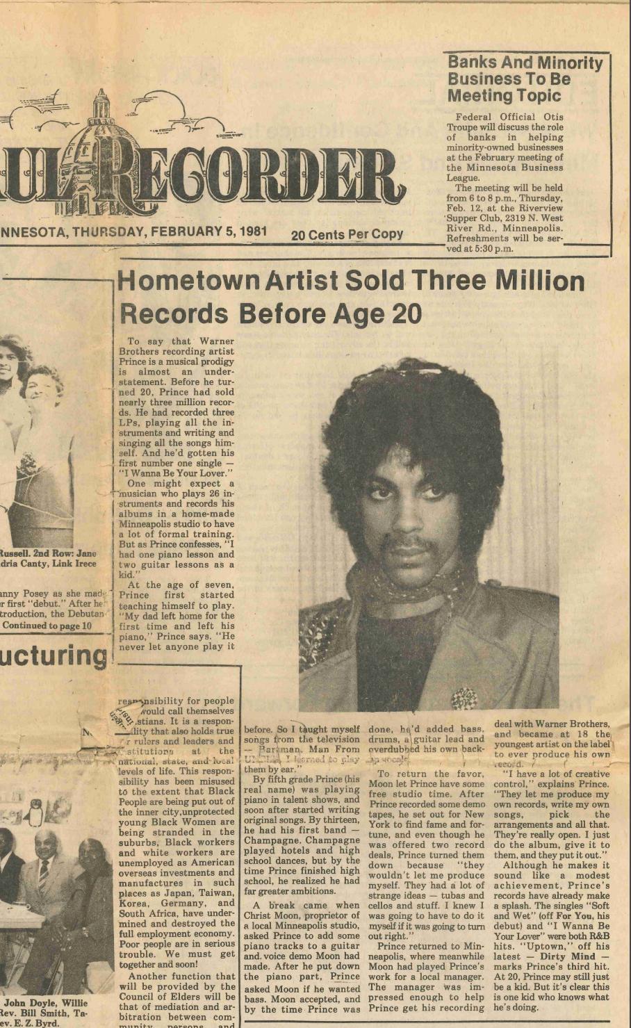 Prince Feb 1981