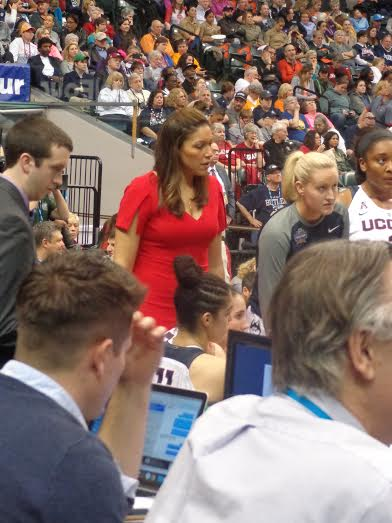 UConn Assistant Coach Marisa Moseley, the only Black on the coaching staff