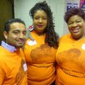 (l-r) Kieber Ortiz-Sinchi, Lanise Block, and Macarre Traynham, MPS executive director of teaching and learning