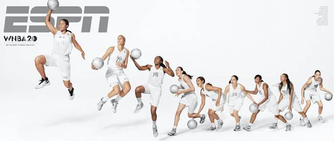 """ESPN The Magazine has published a WNBA20-themed issue that takes a look at the history of the league and where it can still go. From The Mag's Steve Wulf: """"The whole WNBA thing started 20 years ago with a ball that looked like breakfast (orange and oatmeal) and a slogan that made grammarians lose theirs: """"We Got Next."""" But as this issue makes clear, the legacy of the WNBA lies not in what it """"got"""" but in what it """"gave."""""""" The issue will hit newsstands Friday, May 13."""