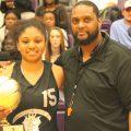 Girls MVP Andrayah Adams with Derek Reuben. (Photo by Mitchell Palmer McDonald)