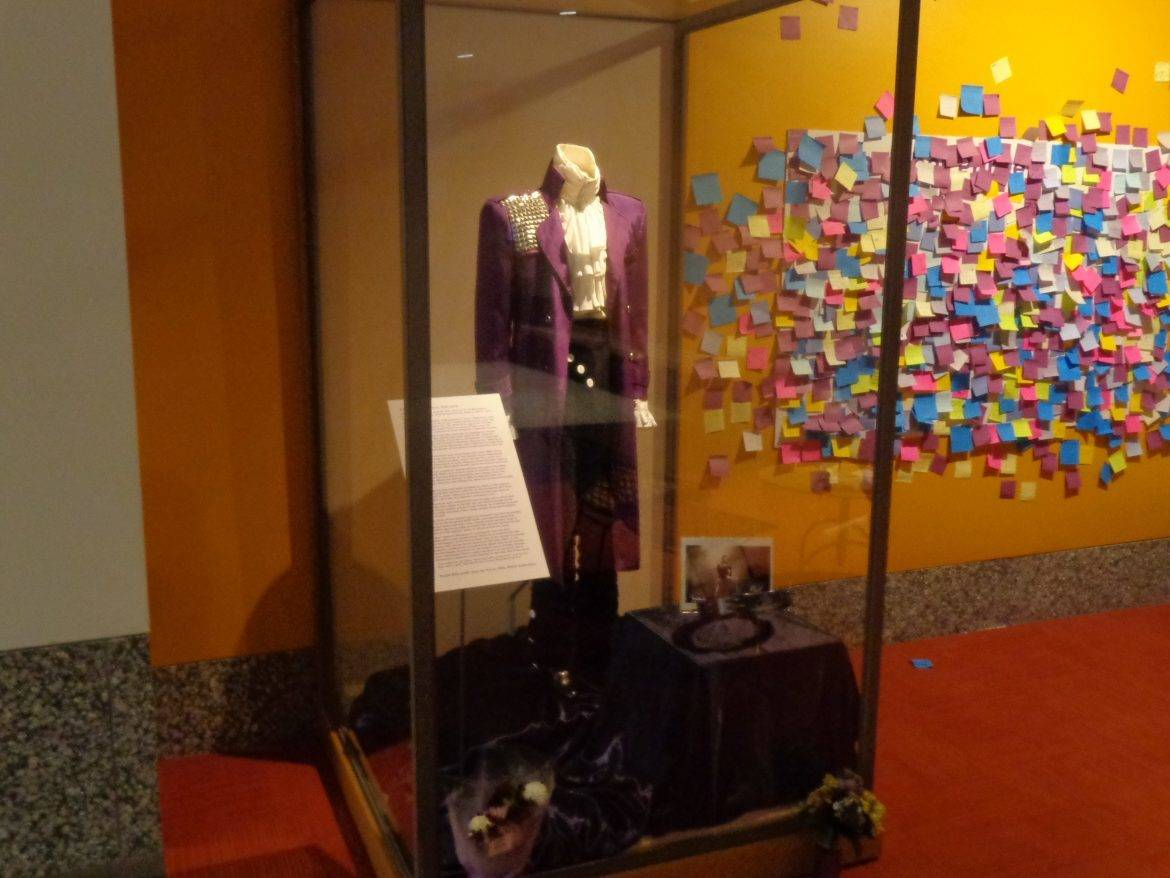 Prince display at the Capri