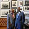 (l-r): U.S. Rep John Lewis (D - Georgia) and Democratic campaign operative Richard Dickerson.