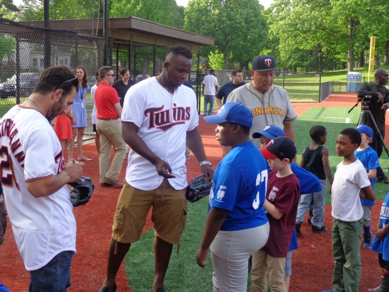 Miguel Sano signs autographs at North Commons.