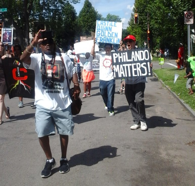 Marchers remembered Philando Castile and others at Rondo Days this year. July 16, 2016