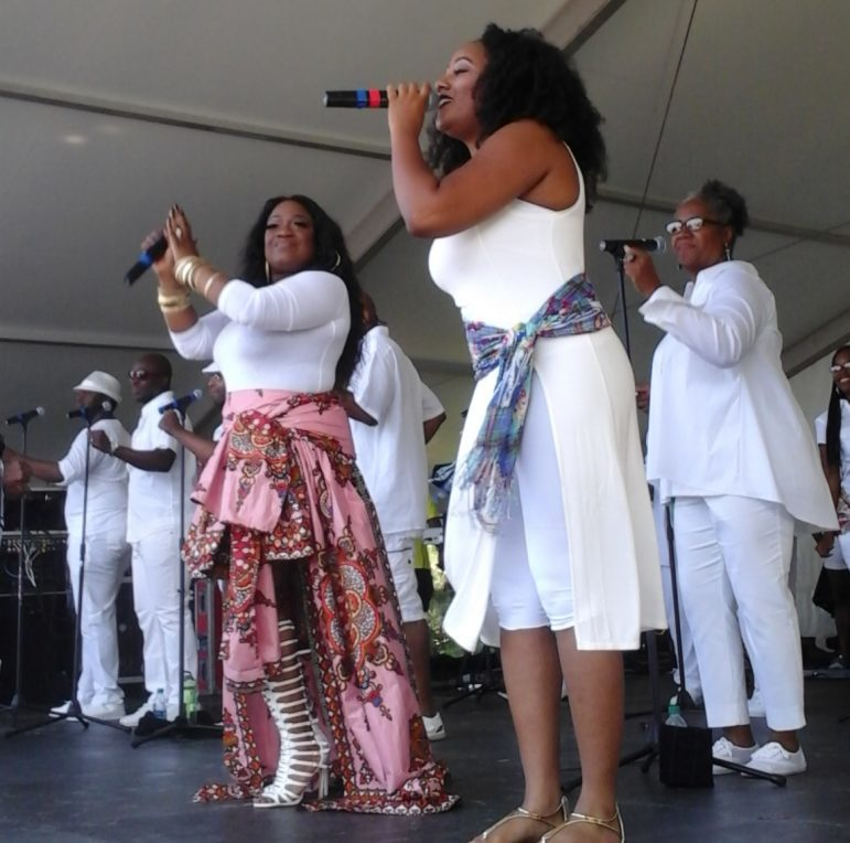 Sounds of Blackness performing at the Rondo Days Festival, ,July 16, 2016