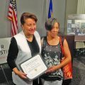 Sen. Patricia Torres Ray(right), was also honored as a Racial Equity Champion, pictured where with Vina Kay