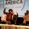 Green Party Candidate Jill Stein with attendee of the August 16 Neighborhoods Organizing for Change Black America forum.