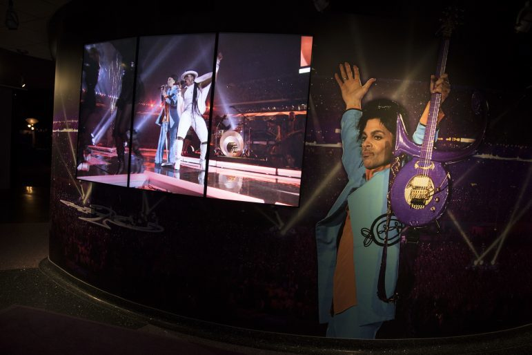 The last room of the tour features Prince's iconic Super Bowl performance in video and photos.
