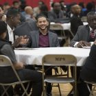 Man to man: Black professionals reach out to inspire students