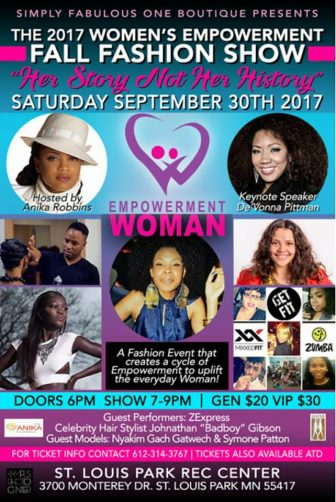 Simply Fabulous One Boutique Presents the 2017 Women's Empowerment Fall Fashion Show! @ St. Louis Park Rec Center | Saint Louis Park | Minnesota | United States