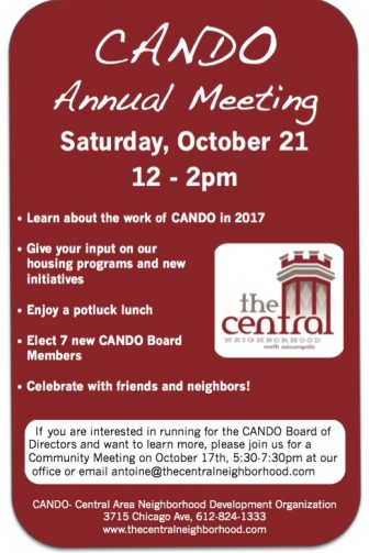 Central Neighborhood (CANDO) Annual Meeting @ CANDO's building