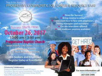5th Annual Progressive Community Job Career and Resource Fair @ Progressive Baptist Church Imani Family Life Center