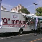 Screening unit on wheels encourages health conversations