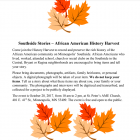 African American History Harvest — Southside stories wanted