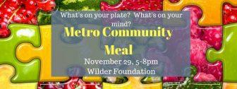 Metro Community Meal @ Amherst H. Wilder Foundation | Saint Paul | Minnesota | United States
