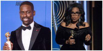 'Three Billboards' wins four Globes, but Oprah steals show
