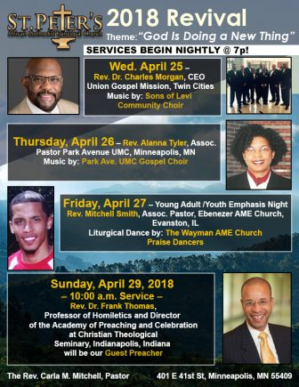 St. Peter's AME Church 2018 Spring Revival @ St. Peter's AME Church | Minneapolis | Minnesota | United States