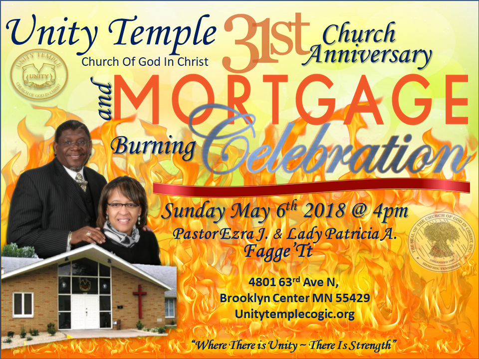 Unity Temple 31st Church Anniversary & Mortgage | MN Spokesman-Recorder