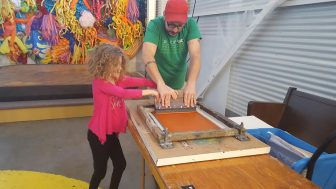 Hand-printed posters: drop-in art workshop with Husbands @ Can Can Wonderland