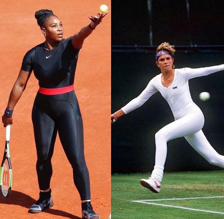 Courtesy of Instagram  ElleUSASerena Williams was not the first to wear a catsuit — Anne White wore a similar suit at Wimbledon 1985