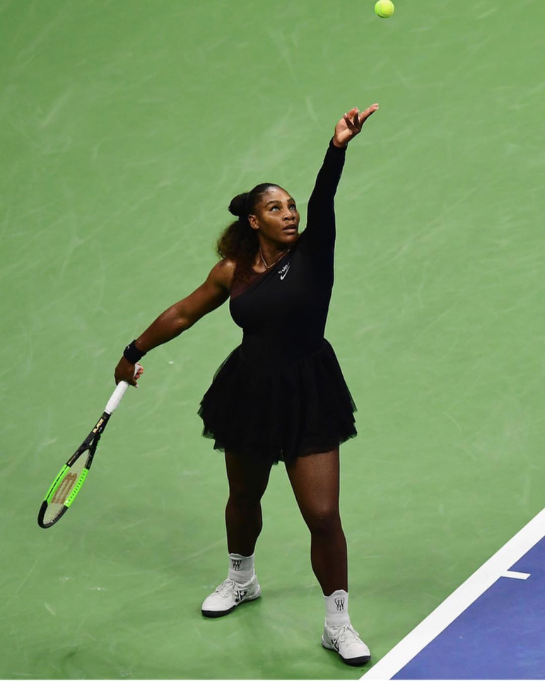GettySerena Williams at the US Open on August 27