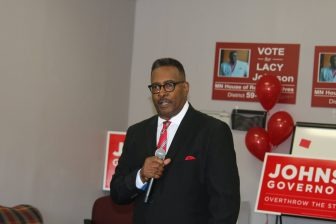 State rep candidate Lacy Johnson describes his vision for North Mpls