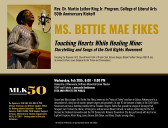 Rev. Dr. Martin Luther King Jr. Program, College of Liberal Arts 50th AnniversaryKick-Off @ Coffman Memorial Union Theater