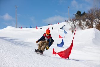 Local snowboarder Aten-Wa Theba competes amongst the nation's top