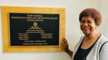 Mpls park board dedicates headquarters to its first Black leader