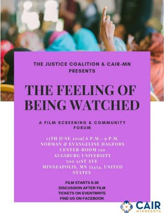The Feeling of Being Watched Film Screening @ Augsburg University's Hagfors Center