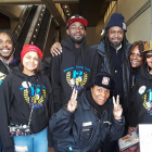 Dora Jones (third from right) with MYA youth from Boys 2 Men Initiative