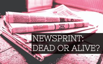 Is newsprint on its way out?